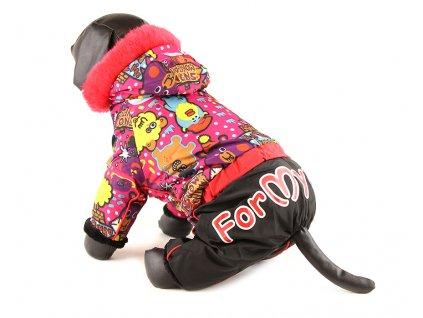 """Obleček pro fenky – nepromokavý zimní overal od For my Dogs, potisk """"Snowman"""""""