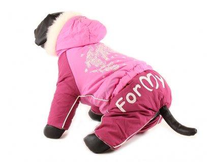Obleček pro fenky – nepromokavý zimní overal od For my Dogs