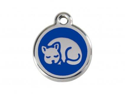 Známka malá Red Dingo - kočka modrá