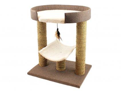 Škrabadlo pro kočky se dvěma odpočívadly (2)
