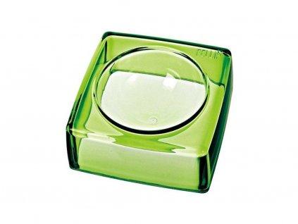 Luxusní hranatá miska pro psy, zelená