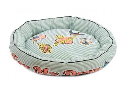 Veselý bavlněný pelíšek pro psy z kolekce For My Dogs vhodný pro malé psy.