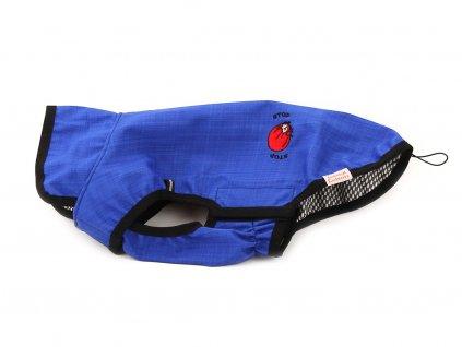 Softshellová repelentní pláštěnka pro psy, modrá