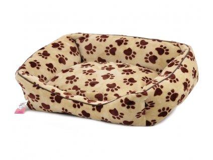 Pelíšek pro psy od For My Dogs. Měkoučké bočnice, nadýchaný vyjímatelný polštář, celý pelíšek je vyrobený z plyšového flísu. Barva béžová.