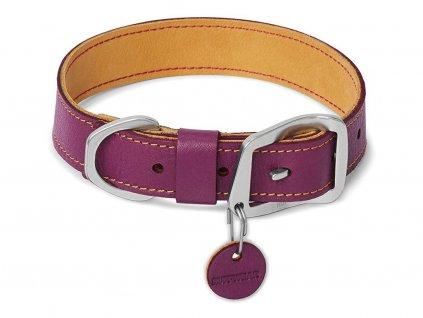 Kožený obojek pro velké psy RUFFWEAR – fialový