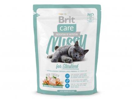 BRIT CARE – superprémiové hypoalergenní granule pro sterilizované kočky