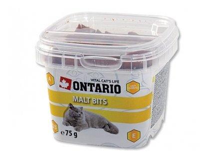 Pamlsky pro kočky Ontario Snack Malt Bits 75g