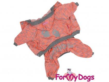 Obleček pro psy a fenky FMD, oranžový reflexní