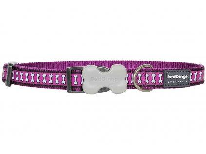 Reflexní obojek pro psa, fialový