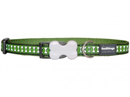Reflexní obojek pro psa, zelený