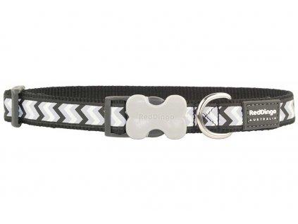 Reflexní obojek pro psa, černobílý