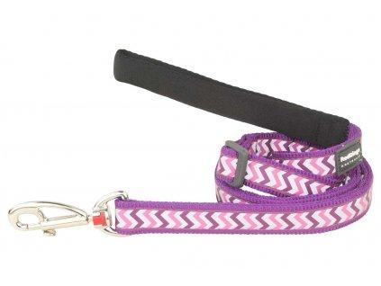 Reflexní vodítko pro psa, fialové