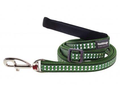 Reflexní vodítko pro psa, zelené
