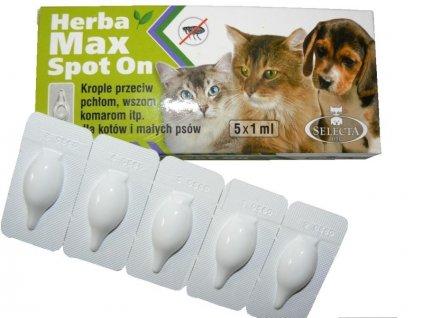 Herba Max Spot On – 5 pipet - 1 celé balení