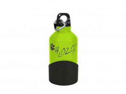 Láhev na vodu pro psy H2O2GO zelená, malá
