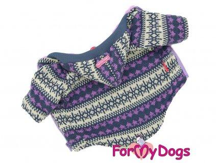 Obleček pro psy i fenky – teplá fialová mikina od For My Dogs
