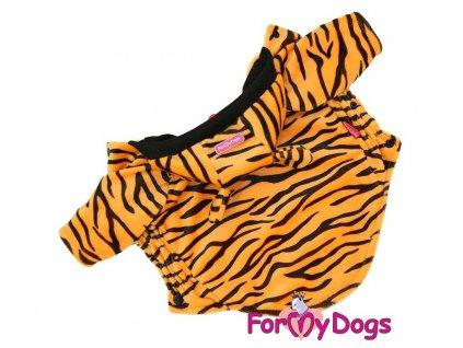 Obleček pro psy i fenky – mikina s tygřím vzorem