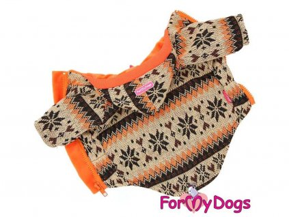 Obleček pro psy i fenky – světle hnědá mikina se vzorem od For My Dogs