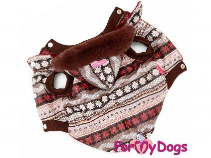 Obleček pro psy i fenky – hnědá zimní bunda od FMD