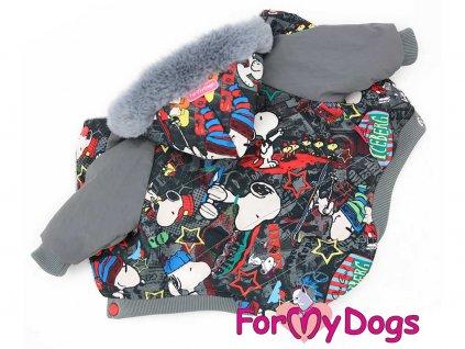 Obleček pro psy i fenky – zimní bunda FMD, SNOOPY