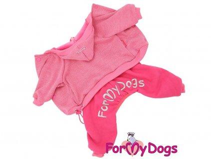 Obleček pro psy i fenky – růžový jednovrstvý overal