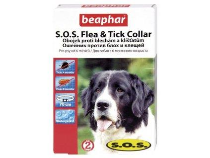 SOS antiparazitní obojek pro psy od 6 měsíců věku o délce 70 cm