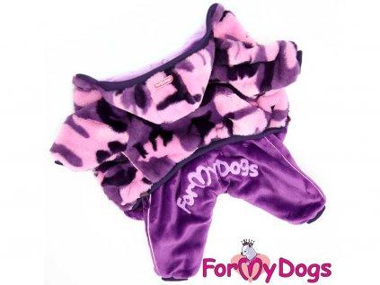 Obleček pro fenky – fialový zimní overal od FMD