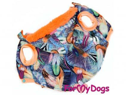 Obleček pro psy i fenky středních a větších plemen od FMD – teplá zimní bunda z voduodpuzujícího materiálu s kožešinovou podšívkou