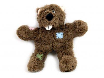 Hnědá plyšová hračka pro psy – medvěd