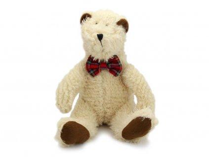 Plyšová hračka pro psy – bílý lední medvěd s motýlkem