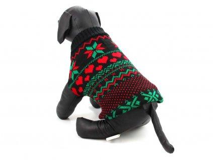 Sváteční svetr pro psy – černý, pohled 1
