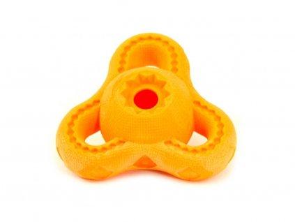 Oranžová hračka pro psy na pochoutky