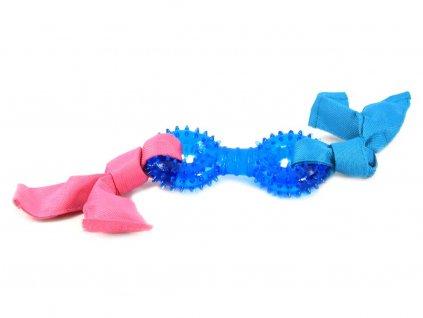 Růžovomodrá pískací hračka pro štěňata