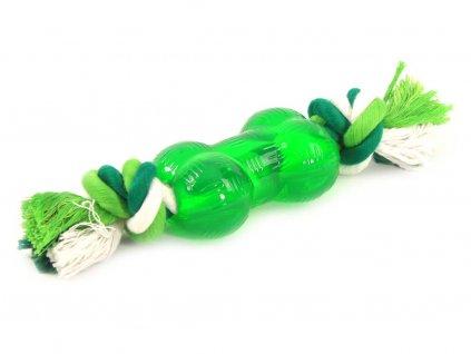 Zelená hračka pro psy s mátou