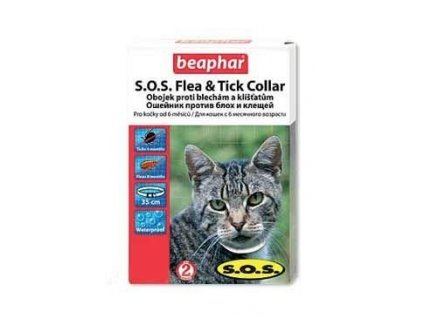 Beaphar Obojek antipar.kočka SOS adult 35cm