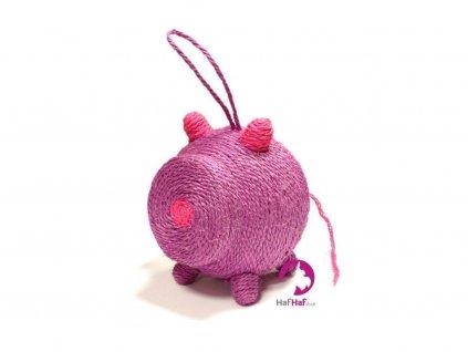 Škrabadlo hračka pro kočky BOBBY Miss Pig