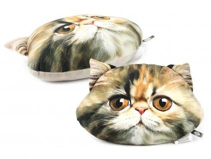 Polštář ve tvaru hlavy perské kočky