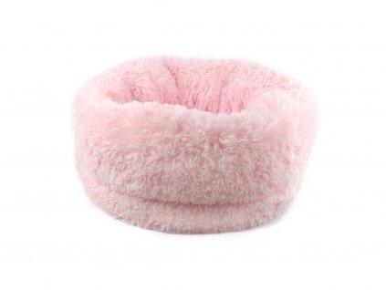 Huňatý pelíšek pro psy i kočky – růžový