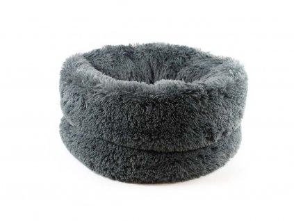 Huňatý pelíšek pro psy – šedý