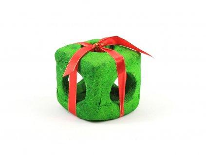 Jedlý dárek pro hlodavce – zelená kostka