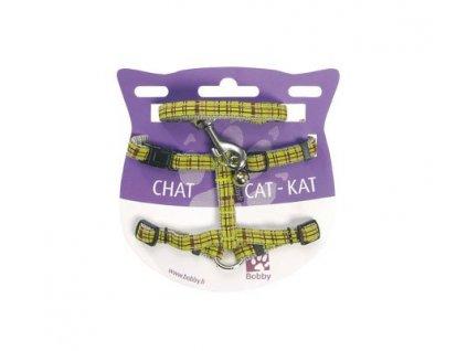 Set - Postroj a vodítko pro kočky Kilt