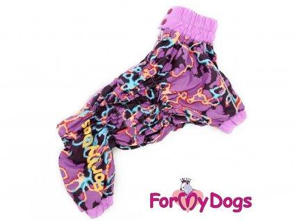 Obleček pro psy – světle fialová pláštěnka pro fenky ForMyDogs LILLAC
