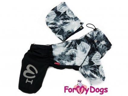 Pláštěnka pro psy od FMD – nový super komfortní a funkční model, černo-šedý