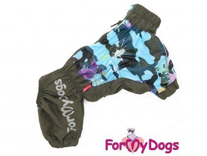 Pláštěnka pro psy ForMyDogs KHAKI, CAMO vzor