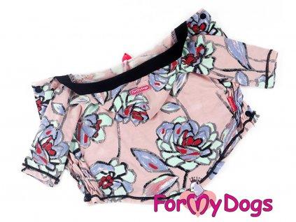 Oblečky pro psy – teplá mikina z měkoučké pleteninové látky FLOWERS