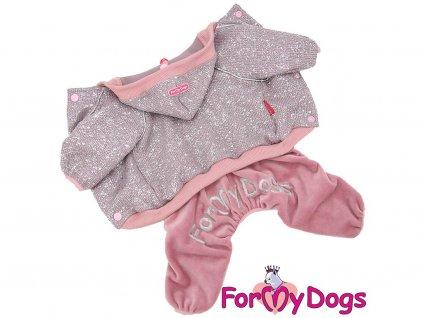Obleček pro psy i fenky – lehoučký pletený overal z veluru