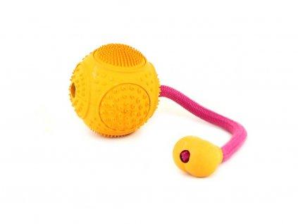 Speciálně tvarovaná barevná gumová hračka pro psy