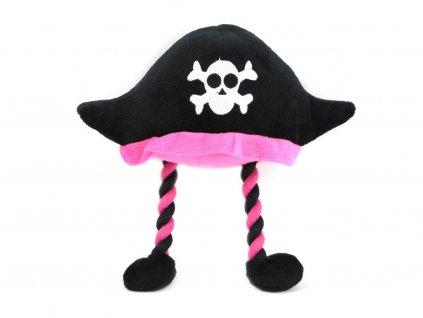 Pískací hračka pro psy od ROSEWOOD – plyšový pirátský klobouk