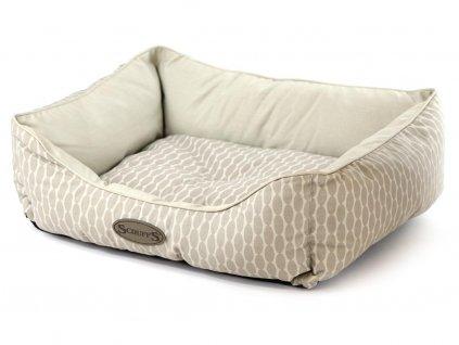 Měkoučký nadýchaný pelíšek pro psy v decentním světlém designu
