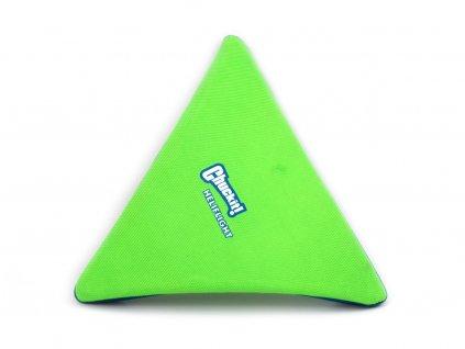 Létající talíř pro psy se speciálním prohnutým tvarem, díky kterému pomalu nabírá výšku (zelený)